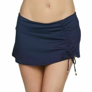Anne Cole Solid Adjustable Sarong Skirted Swimsuit